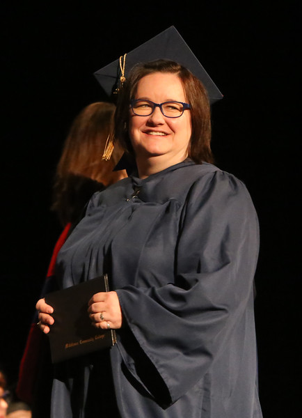 Middlesex Community College commencement. Kristen Krieger of Athol. (SUN/Julia Malakie)