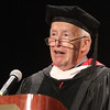 Lowell mayor Bill Samaras speaks at Middlesex Community College commencement. (SUN/Julia Malakie)