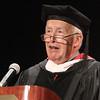 Lowell mayor Bill Samaras speaks at Middlesex Community College commencement. (SUN/Julia Malakie)