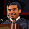 Middlesex Community College commencement.  Diego Garcia, one of two student speakers. (SUN/Julia Malakie)