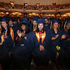 Middlesex Community College commencement. From left, Paulina Llorente of Concord, Yelida Luis of Lawrence, Mai Nagabayashi of Lowell, Alba Ouellette of Nashua, and Yosibel Valdez of Lawrence. (SUN/Julia Malakie)
