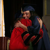 Middlesex Community College commencement.  Jenessa Tutela of Dracut hugs her aunt, MCC Board of Trustees member Tami Dristiliaris, after receiving her A.S. in Diagnostic Medical Sonography. (SUN/Julia Malakie)