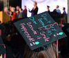 A message is seen on the mortar of a Montgomery County Community College Class of 2014 member  during the school's Forty -Seventh Commencement on  Thursday  May 15 , 2014.  Photo by Mark C Psoras/The Reporter