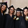 Middlesex Charter graduation at MRT. From left, Erica Clark of Dracut, Cassidy Murphy of Lowell, Vididiana Gonzalez of Methuen, and Sophia Gallagher of Chelmsford. (SUN/Julia Malakie)