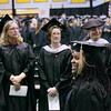 Record-Eagle/Keith King<br /> Jasmine Dorsey walks toward her seat during the Northwestern Michigan College commencement ceremony Saturday, May 7, 2011 at Traverse City Central High School.