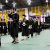 Record-Eagle/Keith King<br /> Students walk toward their seats Saturday, May 7, 2011 during the Northwest Michigan College commencement ceremony at Traverse City Central High School.