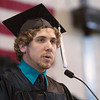 Record-Eagle/Douglas Tesner<br /> <br /> Francis Hartsuff was the student speaker at the NMC graduation at Traverse City Central High School.