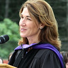 Lt. Gov. Karyn Polito addresses Nashoba Tech graduation. (SUN/Julia Malakie)