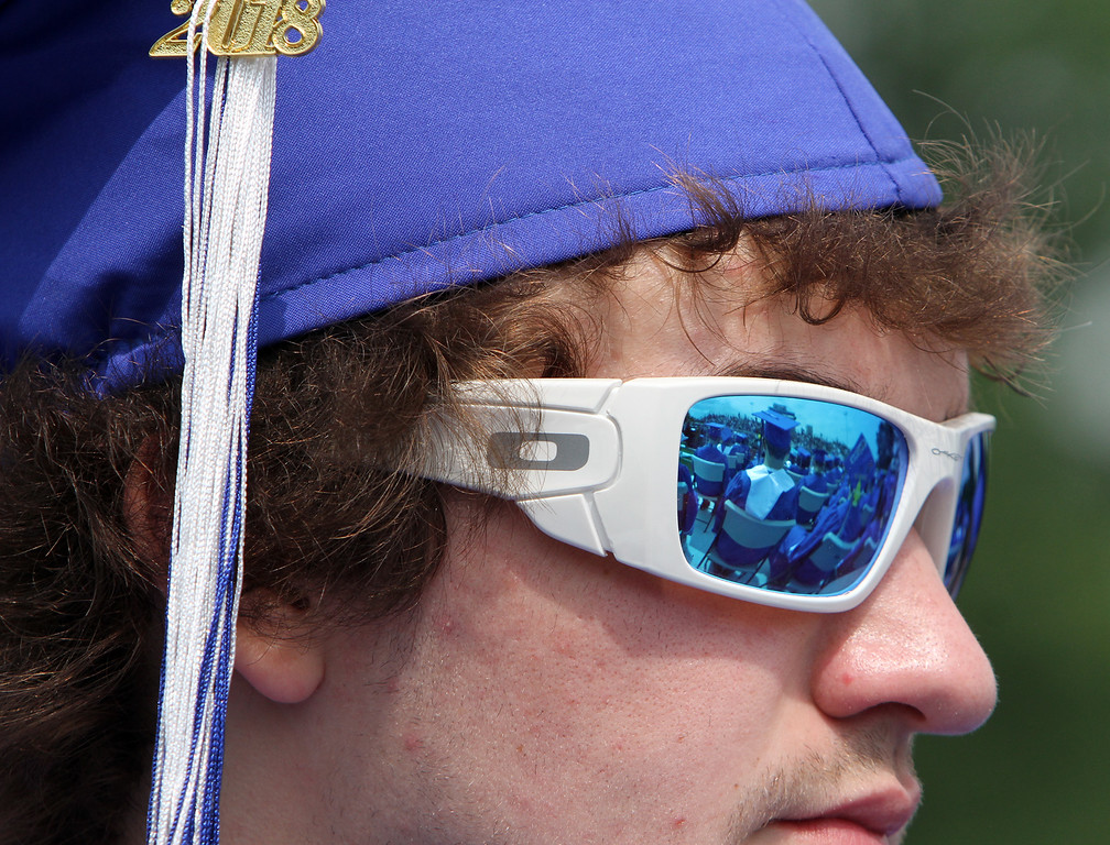. Nashoba Tech graduation. Chad Miner of Pepperell. (SUN/Julia Malakie)