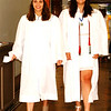 Diane Raver | The Herald-Tribune<br /> Emily Langdon (left) and India Burris walk to join their classmates.