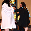Diane Raver | The Herald-Tribune<br /> President Diane Laake (right) presents Isabelle Kelley with her diploma.