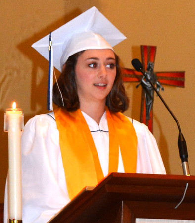 Diane Raver | The Herald-Tribune<br /> Regan Horan thanked her classmates for their support.