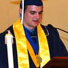 "Diane Raver | The Herald-Tribune<br /> Valedictorian Matthew Moorman noted, ""While the teachers and administration at Oldenburg have offered me a quality of education that will prove to be invaluable in the real world, it is likely that my 51 fellow classmates have had an even greater impact on me as a person."""