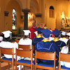 Diane Raver | The Herald-Tribune<br /> DURING THE HOMILY, the Rev. John Meyer talks to the students.
