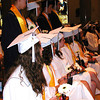 Diane Raver | The Herald-Tribune<br /> STUDENTS watch as classmates receive their diplomas.