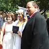 Diane Raver | The Herald-Tribune<br /> Colleen Dietz is congratulated by her parents.