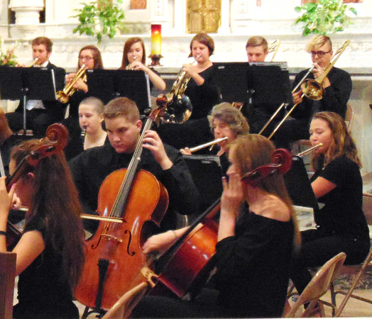 Diane Raver | The Herald-Tribune<br /> The OA orchestra provided music prior to the Mass.
