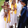 Diane Raver | The Herald-Tribune<br /> OA seniors lined up outside the chapel prior to graduation.
