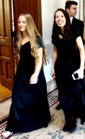 Diane Raver | The Herald-Tribune<br /> Members of the Academy Singers head to the chapel.