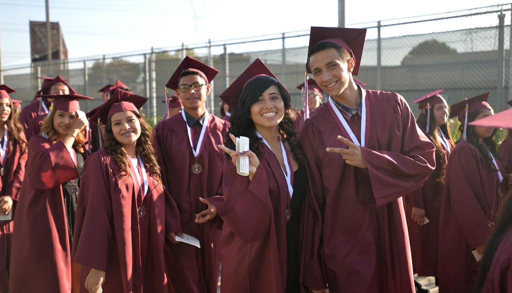 . Paramount High School Graduation Thursday June 11, 2014. (Photo by Sean Hiller/ Daily Breeze).