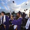 Shawsheen Tech graduation. Megan Brown of Billerica, center, and Samantha Moriconi of Billerica, right. (SUN/Julia Malakie)