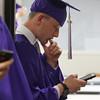 Dan McPhillips of Billerica before Shawsheen Tech graduation. (SUN/Julia Malakie)