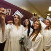 Shawsheen Tech graduation. Front, left to right: Nicole Mallinson of Wilmington, Nicole Marchant of Billerica, Kaitlin McInerny of Billerica, and Caitlin Malone of Billerica. Rear: Kaylie McElravy of Billerica, and Talia Morgan of Billerica (hidden). (SUN/Julia Malakie)