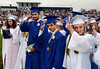 Springfield High School Class of 2014 members turn their tassels at the conclusuion of their Commencement Excercises on Tuesday June 11,2014. Photo by Mark C Psoras/The Reporter
