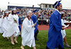 Springfield High School Class of 2014 members procceed onto the stadium field for their Commencement Excercises on Tuesday June 11,2014. Photo by Mark C Psoras/The Reporter