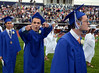 Springfield High School Class of 2014 members march onto the stadium field for their Commencement Excercises on Tuesday June 11,2014. Photo by Mark C Psoras/The Reporter
