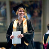 Record-Eagle/Jan-Michael Stump<br /> Traverse City Central High School graduate Madison Bartlett (cq) smiles after accepting her diploma Saturday at the Interlochen Center for the Arts.