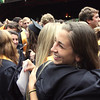 Record-Eagle/ Keith King<br /> Julia Otwell, right, 18, of Traverse City, hugs Ellen Whiting Saturday, June 12, 2010 outside of Kresge Auditorium at the Interlochen Center for the Arts at the conclusion of the Traverse City Central High School graduation ceremony.