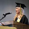 Record-Eagle/Keith King<br /> Traverse City Central High School class president, Jessica Dancer, speaks Sunday, June 3, 2012 during the Traverse City Central High School commencement in Kresge Auditorium at the Interlochen Center for the Arts.