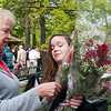 Record-Eagle/Douglas Tesner<br /> Samantha Schropp receives flowers from her grandmother Ida Sternbyrgh.