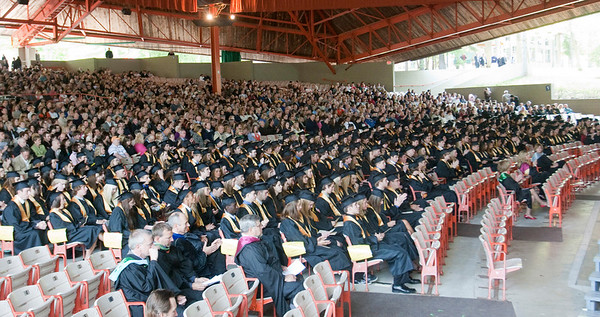 Record-Eagle/Douglas Tesner<br /> More than 368 students graduated from Traverse City Central High School.