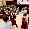 Record-Eagle/Keith King<br /> Traverse City Christian School graduates exit the gymnasium Saturday, June 11, 2011 after the Traverse City Christian School graduation ceremony.