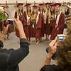 Record-Eagle/Douglas Tesner<br /> <br /> Family and friends take pictures of the members of Traverse City Christian High School's class of 2008.  Eighteen students graduated at New Hope Community Church in Williamsburg on Saturday.