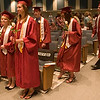 Record-Eagle/Douglas Tesner<br /> <br /> Members of class of 2008 file in for their graduation from Traverse City Christian High School.  Eighteen students graduated at New Hope Community Church in Williamsburg on Saturday.