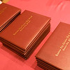 Record-Eagle/Douglas Tesner<br /> <br /> Diplomas wait for graduating seniors of Traverse City Christian High School.  Eighteen students in the class of 2008 graduated Saturday at New Hope Community Church in Williamsburg.