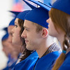 Record-Eagle/ Keith King<br /> Walter Hoover, 18, of Traverse City, listens to classmate Frank O'Brien (not pictured) Wednesday, June 9, 2010 during the Traverse City College Preparatory Academy graduation ceremony.
