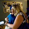 Record-Eagle/ Keith King<br /> Minda Nyquist, an English teacher at the Traverse City College Preparatory Academy, hugs Daniel Arman, 18, of Traverse City, Wednesday, June 9, 2010 at the conclusion of the academys graduation ceremony.