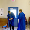 Record-Eagle/ Keith King<br /> Keenan Brons-Piché, left, 17, and Zechariah VanDyken, 19, both of Traverse City, put on their gowns Wednesday, June 9, 2010 prior to the Traverse City College Preparatory Academy graduation ceremony.