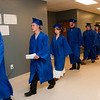 Record-Eagle/Douglas Tesner<br /> Students walk out at the beginning of their commencement ceremony.