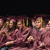 Record-Eagle/ Keith King<br /> Traverse City High School seniors applaud Friday, June 11, 2010 at the start of their graduation ceremony in Milliken Auditorium.