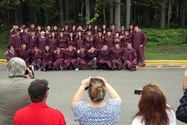 Record-Eagle/ Keith King<br /> The Traverse City High School Class of 2010 has their photo taken outside of the Dennos Museum Center Friday, June 11, 2010 prior to the start of their graduation ceremony in Milliken Auditorium.