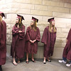 Record-Eagle/ Keith King<br /> Traverse City High School seniors wait in line Friday, June 11, 2010 prior to entering Milliken Auditorium for the graduation ceremony.