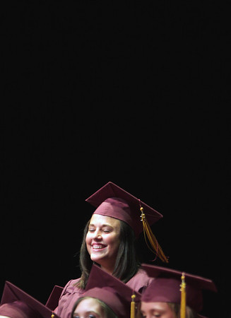 Record-Eagle/ Keith King<br /> Mari Courtade is recognized Friday, June 11, 2010 during the Traverse City High School graduation ceremony.