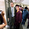 Record-Eagle/Keith King<br /> Alexander Abbey, right, has his picture taken with Traverse City High School principal, Lance Morgan Jr., Friday, June 10, 2011 prior to the start of the Traverse City High School graduation ceremony at the Dennos Museum Center.