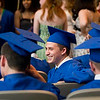 Record-Eagle/Jan-Michael Stump<br /> Traverse City St. Francis High School senior Joseph Beckwith (cq) laughs while talking to friends before graduation Sunday.