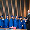 Record-Eagle/Jan-Michael Stump<br /> Traverse City St. Francis High School principal Charles Taylor (cq) speaks to his students one last time before Sunday's graduation.
